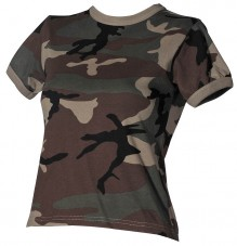 T-shirt camouflage femme