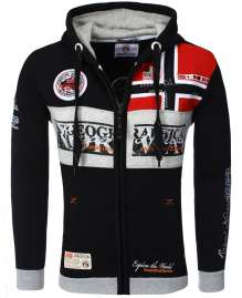 Sweat zippé à capuche homme Geographical Norway Flyer