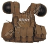 gilet tactique Swat - Brun