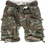 Shorts militaires Division - Woodland camouflage